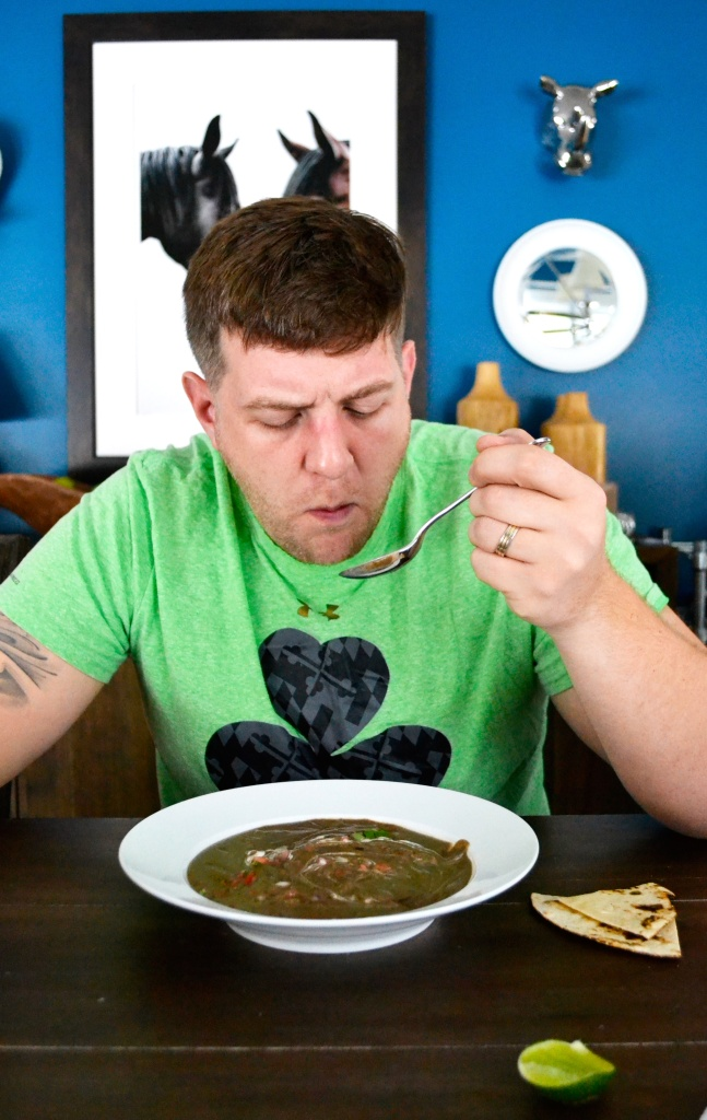 josh-eating-black-bean-soup